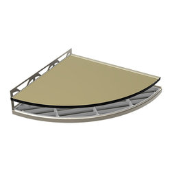 TileWare - TileWare Structural Surfaces Claddy T-Shelf w/ Glass Cover, Safari - Structural Surfaces™ Claddy T-Shelf With Glass Cover - Oil Rub Bronze