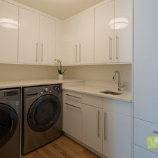 Modern Laundry Room by Cat Hackman