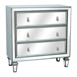 Hollywood 3 Drawer Gunmetal and Mirrored Chest - Hollywood 3 Drawer Gunmetal and Mirrored Chest 32 x 15 x 33.5 Accent Furniture ETA Shipping Early December 2013 32 x 15 x 33.5