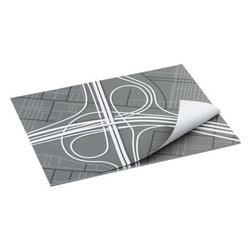 turnpike paper placemats set of 25 - I-25. Set of 25 mats in 10% post-consumer paper take the high way in grey/black/white with recycled agri-based inks.- Turnpike design in grey, black and white- Made of 10% post-consumer recycled paper and agri-based inks- Made in USAInternet only.