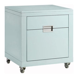 """Home Decorators Collection - Parsons 20.5""""W File Cabinet - Add sleek sophistication to your office with the Parsons File Cabinet. Each piece is expertly crafted of wood in your choice of glossy finish. Castors on the base give it the mobility you need to always keep your files within an arm's reach. Perfect for contemporary home decor styles, this storage accent will help you stay organized in bold, chic fashion. Order yours today. Expertly crafted from wood for years of lasting beauty and use. Multiple color options available. Holds letter and legal-size folders."""