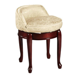 Online shopping for furniture decor and home improvement - Swivel vanity stool with back ...
