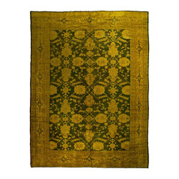 West of Hudson - Vintage Overdyed Turkish Oushak Gold Forest Green Rug, 10.25x13.5 Ft. - Handknotted one of a kind over-dyed rug with vibrant colors. West of Hudson is proud to offer authentic vintage and new hand knotted rugs that that are carefully selected for our exclusive overdye collection. Each rug is a unique work of art. 100% handmade from start to finish.