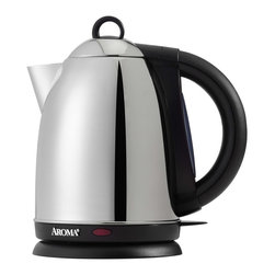 Aroma Hot H20 X-Press 1-1/2-Liter Cordless Water Kettle - This kettle is perfect for risk-free water heating for formulas or a relaxing cup of tea.