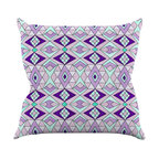 """Kess InHouse - Pom Graphic Design """"Geometric Flow"""" Lavender Geometric Throw Pillow (26"""" x 26"""") - Rest among the art you love. Transform your hang out room into a hip gallery, that's also comfortable. With this pillow you can create an environment that reflects your unique style. It's amazing what a throw pillow can do to complete a room. (Kess InHouse is not responsible for pillow fighting that may occur as the result of creative stimulation)."""