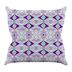 "Kess InHouse - Pom Graphic Design ""Geometric Flow"" Lavender Geometric Throw Pillow (26"" x 26"") - Rest among the art you love. Transform your hang out room into a hip gallery, that's also comfortable. With this pillow you can create an environment that reflects your unique style. It's amazing what a throw pillow can do to complete a room. (Kess InHouse is not responsible for pillow fighting that may occur as the result of creative stimulation)."