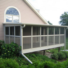 Traditional Porch by Stanek Windows by Great Day improvements
