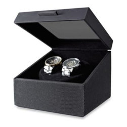 Kenneth Cole Reaction Home - Kenneth Cole Reaction Watch Winder - This handsome faux leather watch winder holds two watches.
