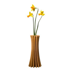 EcoFirstArt - Anemone Vase - With nods to nature, this beautiful spiraling vase has been carefully crafted out of sustainable ash wood. Cradle your flowers in an ecofriendly container — when you place this lovely vase on your table — filled with your favorite blossoms.