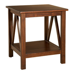 "Linon - Titian End Table - Dimensions: 22.01"" H x 20"" W x 17.72"" D"