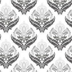 """Fern Garden Wallpaper, Greyscale, 25"""" X 4.5' - """"Swag Paper - Empowering the Do-It-Yourselfer:"""