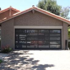 Modern Garage And Shed Glass Garage Door