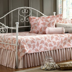 Hillsdale Furniture - Lucy Daybed w Suspension Deck & Roll-Out Trun - Includes bed frame, suspension deck and trundle. White finish. Mattress not included. Heart-shaped scrollwork. Threaded spindles. Daybed: 80 in. L x 40.5 in. W x 47.5 in. H. Suspension deck: 76 in. L x 39 in. W. Trundle: 73.15 in. L x 39.25 in. W x 4 in. H Hillsdale Furniture's Lucy daybed is charming and whimsical. The simple White finish perfectly complements the flourished heart-shaped scrollwork and threaded spindles. A lovely addition to any home, the Lucy daybed is an especially wonderful option for a young girl's bedroom.