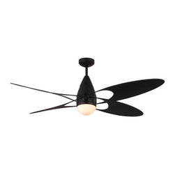 """Monte Carlo - Monte Carlo Butterfly 4 Bladed 54"""" Outdoor Ceiling Fan - Light Kit and Blades In - Features:"""