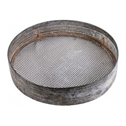 Seed Sieve - Vintage French zinc seed sieve. We loved the patina on this. Vintage