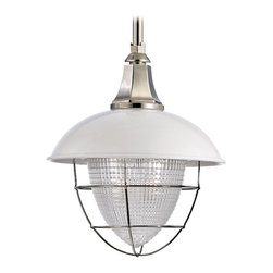 Hudson Valley - 1 Light PendantKeene Collection - Keene's inspired combination of grit and glitter makes for a truly striking modern fixture. Encased in a protective wire cage and hooded by a metal shade, Keene embodies vintage industrial style. However, we give these pendants a fresh look with gleamin