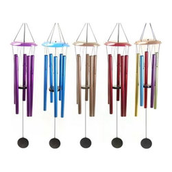 Exhart - Exhart Small 32 in. WindyWinds Wind Chime - 40258-BK - Shop for Statues and Sculptures from Hayneedle.com! The Exhart Small 32 in. WindyWinds Wind Chime has colorful aluminum tubes and a wood clapper to create beautiful music. Comes in a variety of finish options.About ExhartA family-owned and operated company based out of Chatsworth California Exhart creates lawn garden and lighting products. Short for extraordinary art Exhart is best known for whimsical garden statues wind chimes and unique outdoor lighting designs.