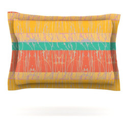 """Kess InHouse - Nina May """"Desert Splatter"""" Orange Gold Pillow Sham (Cotton, 40"""" x 20"""") - Pairing your already chic duvet cover with playful pillow shams is the perfect way to tie your bedroom together. There are endless possibilities to feed your artistic palette with these imaginative pillow shams. It will looks so elegant you won't want ruin the masterpiece you have created when you go to bed. Not only are these pillow shams nice to look at they are also made from a high quality cotton blend. They are so soft that they will elevate your sleep up to level that is beyond Cloud 9. We always print our goods with the highest quality printing process in order to maintain the integrity of the art that you are adeptly displaying. This means that you won't have to worry about your art fading or your sham loosing it's freshness."""
