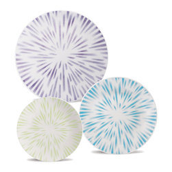 Oxford Porcelains - Karim Rashid Collection -Dust- Dinner set with 12pc - The set includes 4 Dessert plates, 4 Soup plates and 4 Dinner plates