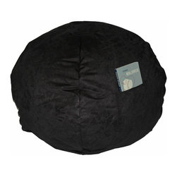 Fun Furnishings - Fun Furnishing Small Beanbag Black Micro Suede - Beanbags - What a great place to plop down and relax. Each bag come with a handy pocket to store the clicker or any other prized possession. The outer cover is removable for cleaning. The inner liner bag securely contains new fire retardant beads and is refillable too. Cleaning the Cover:  We use only fine upholstery-grade fabrics that can take lots of use from kids. Our Micro Suedes, denims and chenilles are all washable.  But we cannot prevent the covers from getting dirty. Here's what you can do to keep them looking new:  1. Blot up spills immediately. Surface wash any remaining stains with a mild, non-toxic cleaner. Do not rub too hard or use a strong cleaner; you will remove the fabric's finish and possibly some color too. 2. The furniture covers are removable. We recommend dry cleaning to keep the covers looking their best as long as possible. 3. You may apply a scotch-guard type treatment to protect the covers. If you choose to do this always start with a small amount on the bottom of the piece to make certain the fabric will not be damaged.