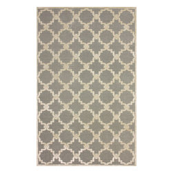 """nuLOOM - Contemporary Light Grey Machine Made Area Rug Trellis VL01, Light Grey, 2' 6"""" X - Made from the finest materials in the world and with the uttermost care, our rugs are a great addition to your home."""