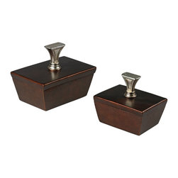 Sterling Industries - Sterling Industries 93-19307/S2 Mid-Century Inspired Boxes - Box (2)