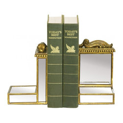 Sterling Industries - Pair Mirrored Bookends - Pair Mirrored Bookends