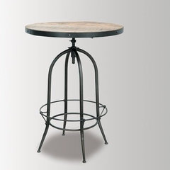 Footrest Swivel Stool