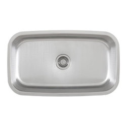 "TCS Home Supplies - 30 Inch Stainless Steel Undermount Single Bowl Kitchen Sink - 18 Gauge - Upgrade your kitchen with this modern stainless steel wide rectangular sink. Made from durable 18 gauge stainless steel. Dimensions: 30"" x 18"" x 9-1/2""."
