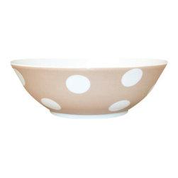 Sabre Paris - Sabre Paris Porcelain Polka Dot Cereal Bowl, Kaki - Qualifies for free shipping and free returns. 100% Satisfaction Guaranteed.