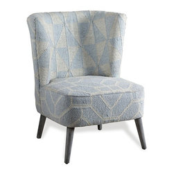 Interlude - Interlude Wesley Kilim Chair - Shades of cream and gray turn an earthy kilim-covered chair into an elegant seating option.