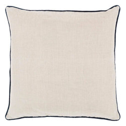 """Surya - Surya LP-006 22"""" x 22"""" Poly Fiber Pillow Kit - Add a splash of color to your space while still maintaining a clean, uncomplicated look with this perfect pillow. Featuring a delicate beige canvas outlined with a vibrant black, this piece will give your room a modern and mature feel. This pillow contains a zipper closure and provides a reliable and affordable solution to updating your home's decor."""