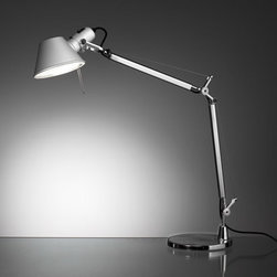 Tolomeo Mini Table Lamp - %In 1989, when the Tolomeo Mini Table Lamp by Artemide was given the Compasso d'Oro award for Italian industrial design. The Tolomeo Mini Table Lamp was credited with having achieved the perfect marriage between design and engineering. Headquartered in Italy, Artemide designs and manufacturers superb modern lighting, including table and floor lamps and a full range of architectural lighting for residential and commercial applications.