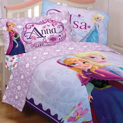 Franco Manufacturing Company INC - Disney Frozen Twin Bedding Set Anna Elsa Celebrate Love - FEATURES: