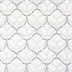 Walls Republic - Rising Quatrefoils White & Grey Wallpaper R1887, Double Roll - Rising quatrefoils contains a simple yet stylish all over geometric pattern. Varying textural elements add a unique touch to the wallpaper. This pattern is a take on the popular trellis pattern bringing it new definition and a unique vibe for a kitchen.