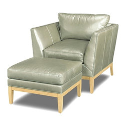 EuroLux Home - New Accent Chair Wood Leather Removable Leg - Product Details