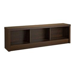 Prepac Furniture - Prepac Series 9 Designer Storage Bench in Espresso - Features: