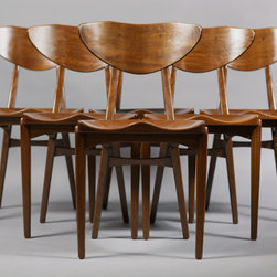 Danish Dining Chairs by Christiansen and Larsen, set of six - Vintage 1950s Christiansen and Larsen Dining Chairs, Set of 6