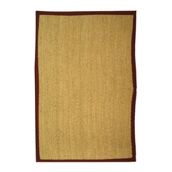 Safavieh - Natural Fiber Brown/Red Area Rug NF115D - 9' x 12' - Hand-woven with natural sea grass, this casual area rug is innately soft and durable.  This densely woven rug will add a warm accent and feel to any home.  The 100-percent cotton canvas backing adds durability.