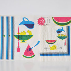 Midcentury Placemats and Napkins Set by The White Pepper