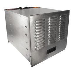 Prago - Weston Stainless Steel 10-tray Food Dehydrator - Easily make healthy,delicious and natural snacks foods like banana chips,fruit roll-ups,yogurt and jerky without additives or preservatives. Dehydrating retains natural flavor of foods and makes great take-along snacks for camping or road trips.