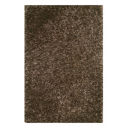 Loloi Rugs - Loloi Rugs Linden Brown Shag Rug X-656300RB10-ILDNIL - Who couldn't use a little sophistication and texture to enliven a bedroom, bathroom, or any other space in need of a style upgrade? These stylish shags from India exude a vibrancy and long polyester strands that capture the eye of any onlooker without distracting from other surrounding decor.