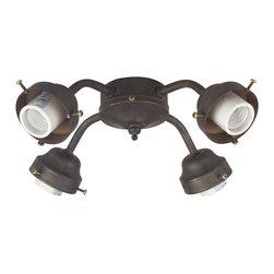 Craftmade - Craftmade 4-Light Transitional Fitter X-GA-LFC004F - 4 Light Fitter w/ CFL Bulbs Included - AG