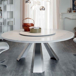 Cattelan Italia | Eliot Round Marble Dining Table, 63-Inch -