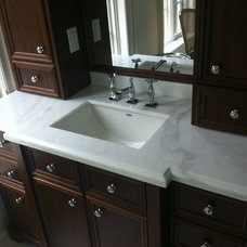 Contemporary Bathroom Countertops by Crystal Tile and Marble