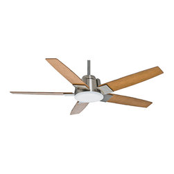 """Casablanca - LED Casablanca 59109 Zudio Brushed Nickel Energy Star 56"""" Ceiling Fan - Features Energy Star Rated + LED Light"""