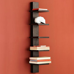 Spine Wall Shelf - Versatile narrow shelving in solid wood showcases books or small treasures. Group shelves together to create more interest.