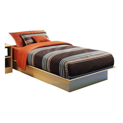 South Shore - South Shore Libra Kids Twin Platform Bed in Natural Maple - South Shore - Beds - 3113235C - Ideal for a child�s or guest bedroom with limited space, the Libra Twin Platform Bed in natural maple finish is also the perfect choice for virtually any decor. It includes translucent rubber corners to assure maximum safety.