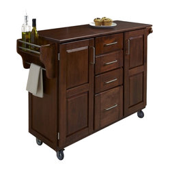 Home Styles - Home Styles Create-a-Cart in Cherry Finish with Cherry Top - Home Styles - Kitchen ...