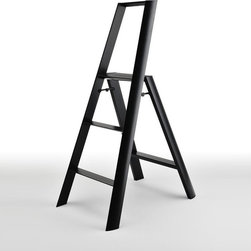 Metaphys Lucano Step Stool - The Metaphys Lucano Stepstool is light, strong and sturdy, while maintaining a slim attractive visual profile. Metaphys has take a good utilitarian design element, and turned this three step stool into a more desirable item that hence will be longer lived.
